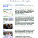 Facts About Ebola Virus and Drinking Water